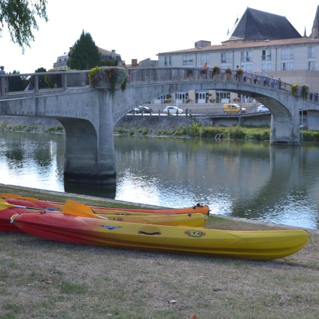 Kayak balade sur la charente