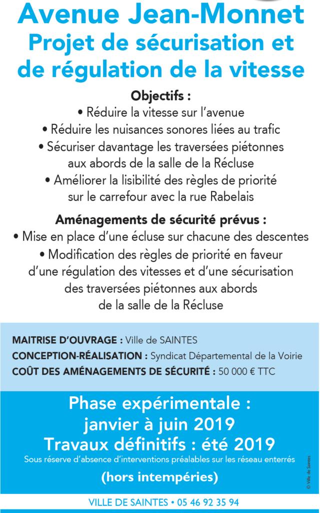 Travaux Avenue Jean Monnet