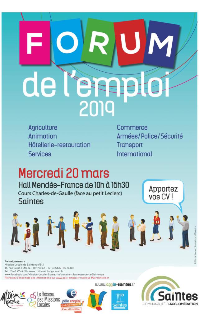 Affiche Forum De L Emploi 2019