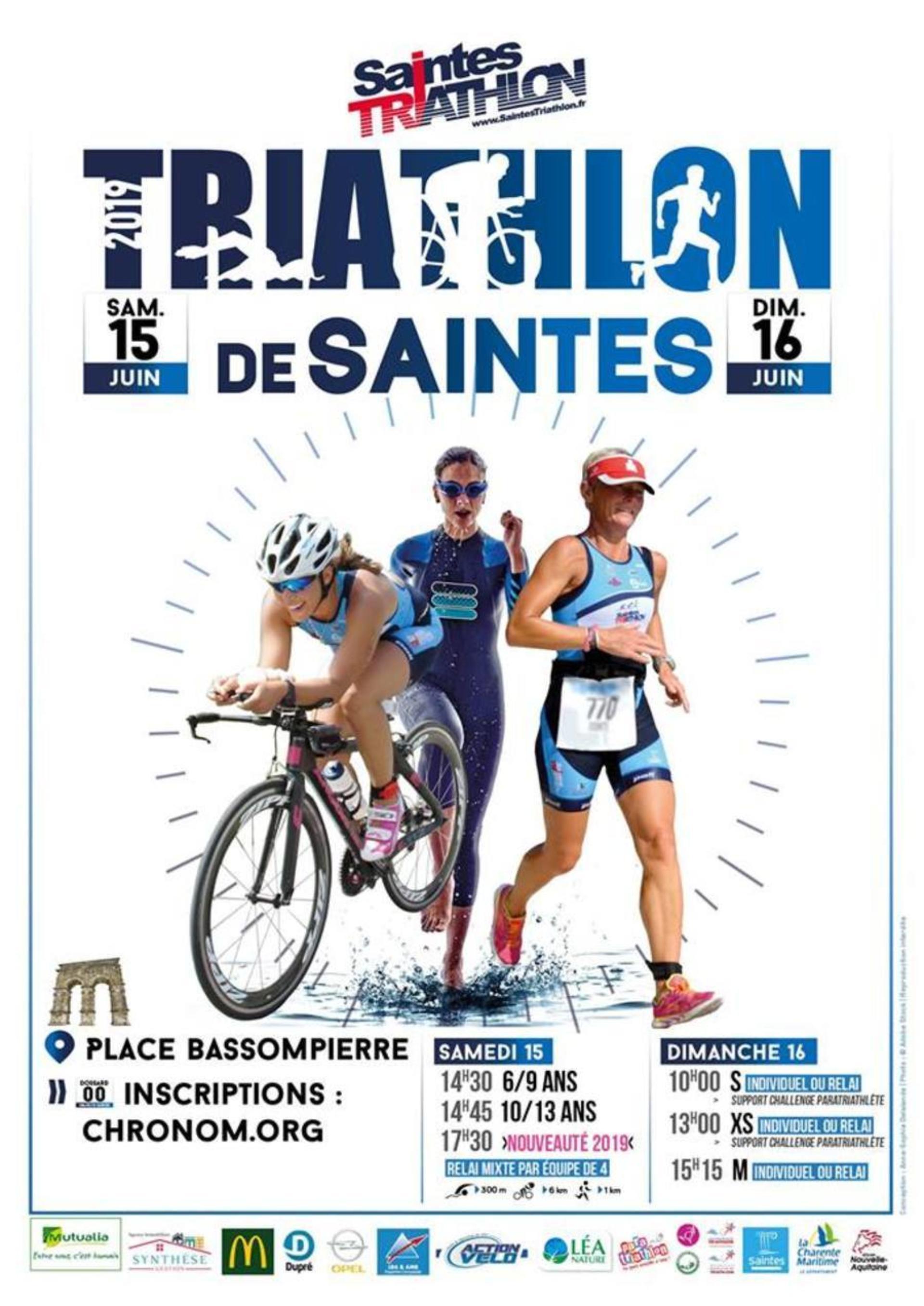 """Résultat de recherche d'images pour """"triathlon saintes 2019"""""""