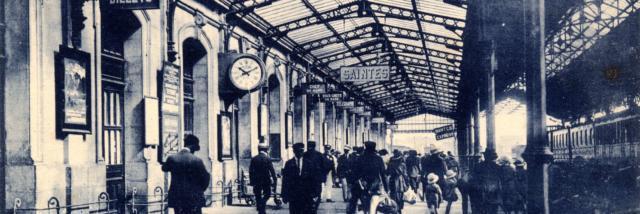 Gare De Saintes Quai N°1 Années 1920 1930