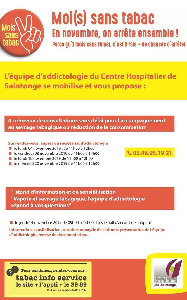 Affiche Mois Sans Tabac Ch Saintonge