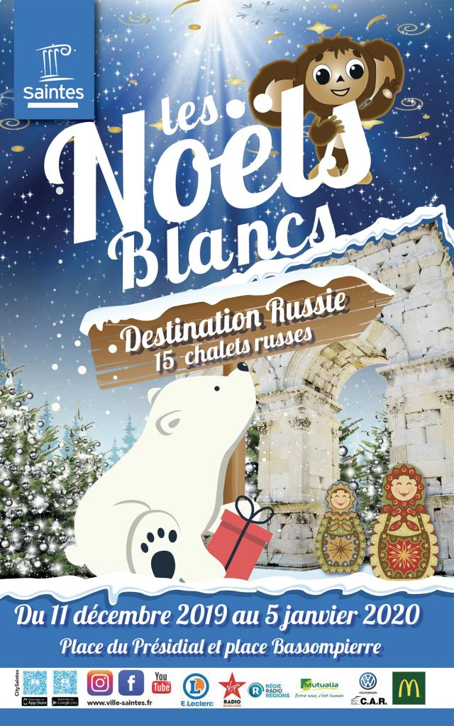 Affiche Des Noëls Blancs 2019