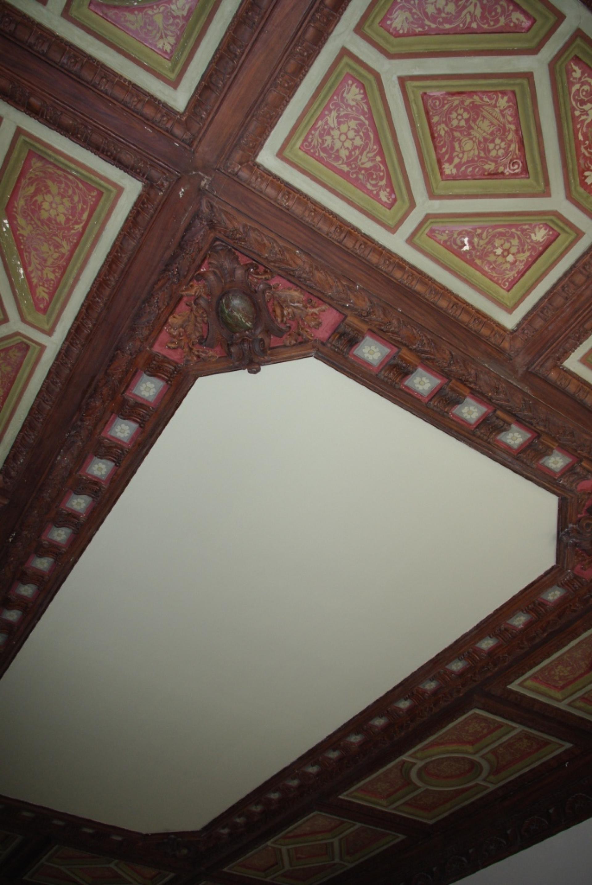 Detailplafondacaisson Xixesiecle Villa Musso