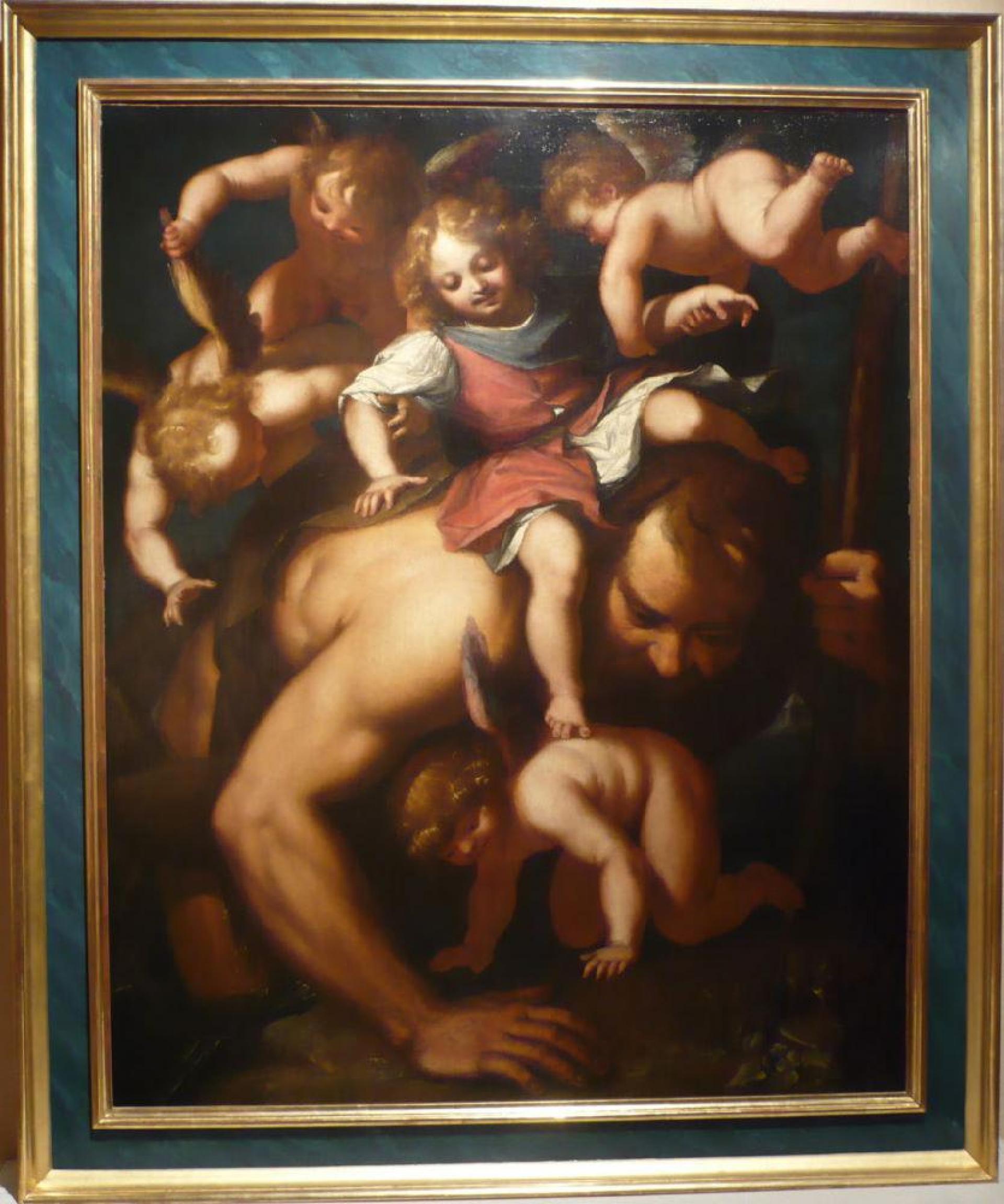 St Christophe Portant L'enfant Jesus